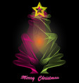 abstract tree merry christmas vector image