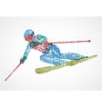 abstraction skier skiing vector image vector image
