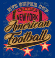 american football graphic tee poster vector image vector image