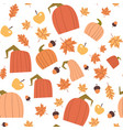 autumn seamless pattern background yellow leaves vector image vector image