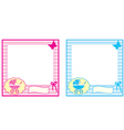baby photo frame vector image