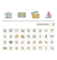 Banking and finance color icons vector image vector image