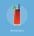 blood mary cocktail colorful vector image