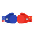 blue and red boxing gloves with united states and vector image vector image