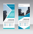 Business Roll Up Banner flat design template vector image vector image