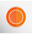 button glass orb disco icon round vector image