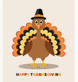 card for thanksgiving day with cartoon turkey vector image
