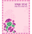 card with flowers thistle vector image vector image