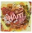 Cartoon hand drawn Doodle Haiti vector image vector image