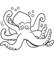Cartoon octopus vector image vector image