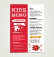 Christmas menu vector image