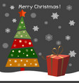 christmas tree with gifts happy vector image