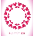 Circle frame with hearts vector image vector image