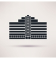 City hospital building in flat style vector image