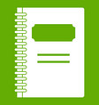 closed spiral notebook icon green vector image vector image