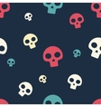 Colored Small Skull Pattern vector image vector image