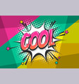 cool pop art comic book text speech bubble vector image