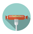 Currywurst icon in flat style vector image