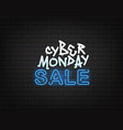 cyber monday sale banner neon and grafitti vector image