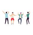 dancing people men in club dancers clubbing guys vector image