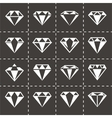 Diamond icon set vector image vector image