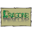 dragon font vector image vector image