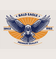 eagle badge design vector image vector image