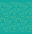 floral swirls seamless pattern vector image vector image