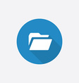 folder Flat Blue Simple Icon with long shadow vector image vector image