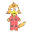 Fox cartoon vector image