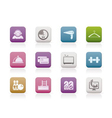 hotel and motel amenity icons vector image vector image