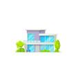 house building isolated patio facade exterior vector image vector image