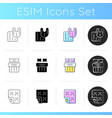 household textile products icons set vector image vector image