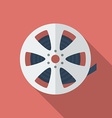 Icon of Film Reel Flat style vector image