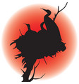 image of a silhouette of birds in a nest vector image
