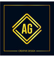 initial letter ag logo template design