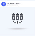 jack cable icon filled flat sign solid vector image vector image