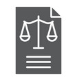 legal document glyph icon law and paper vector image vector image