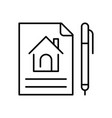 linear simple lease agreement icon
