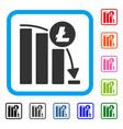 litecoin epic fail graph framed icon vector image vector image