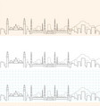 medina hand drawn skyline vector image vector image