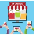Mobile shopping concept vector image vector image
