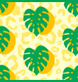 monstera summer tropical seamless pattern vector image