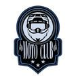 motorcycle club badge logo emblem template vector image vector image