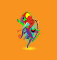 multicolored abstraction with a dancing girl vector image
