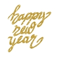 New Year lettering with stars vector image vector image