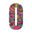Number 0 with hand drawn abstract doodle pattern vector image vector image