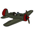old military airplane vector image vector image