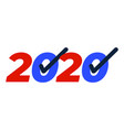 patriotic 2020 voting poster presidential vector image
