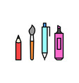 pen pencil marker paint brush icon vector image